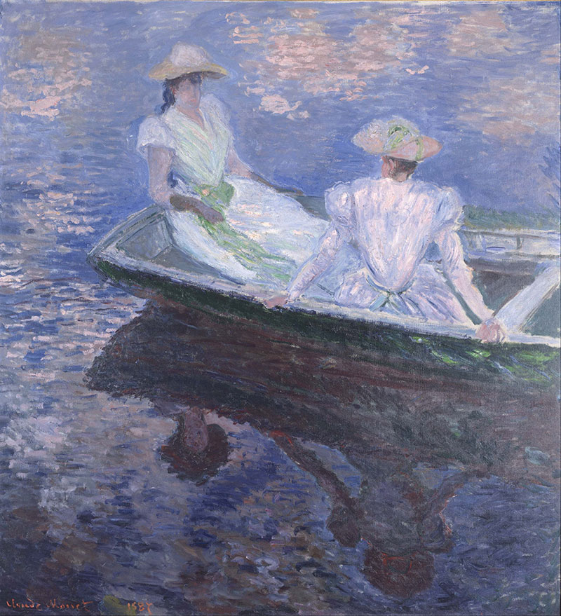 How To Paint On The Boat By Claude Monet Classe Petit Social