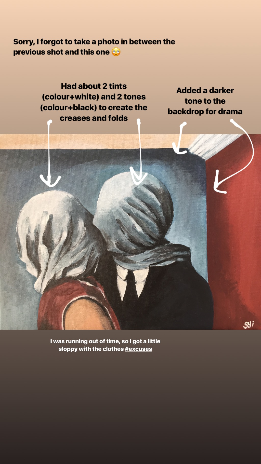 How To Paint The Lovers By René Magritte